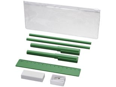 Набор Mindy: ручки шариковые, карандаши, линейка, точилка, ластик, зеленый фото