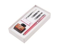 Набор Pierre Cardin WE-Share: ручка перьевая, сменные насадки, конвектор, чернила, розовый фото