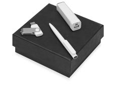 Набор On the go: ручка шариковая Umbo, зарядное устройство Ангра 2200 mAh, флешка Квебек 8 Гб, серый фото