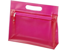 Прозрачная косметичка Paulo, розовый фото
