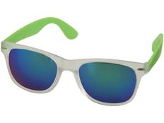 Очки солнцезащитные Sun Ray зеркальные, серый/салатовый фото