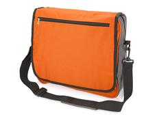Сумка для документов, полиэстер, оранжевый/черный фото