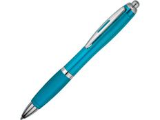 Ручка шариковая пластиковая Nash, бирюзовая фото