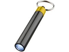 Брелок - фонарик цилиндрический Retro, черный/желтый фото