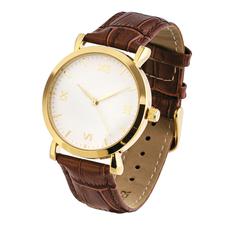 Часы наручные, коричневый/золотой фото