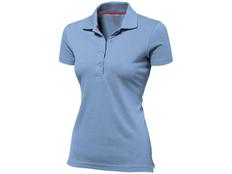 Футболка поло женская Slazenger Advantage, голубая фото