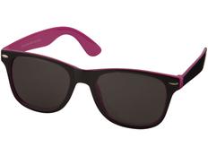 Очки солнцезащитные Sun Ray с цветной вставкой, черный/ розовый фото