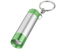 Брелок - фонарик цилиндрический, серый/лайм фото