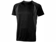 Футболка спортивная из сетки мужская Elevate Quebec Cool Fit, черная фото