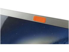 Закрывашка для камеры овальная со шторкой, оранжевая фото