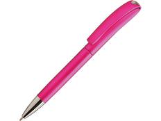 Ручка пластиковая шариковая Ines Solid, розовая фото