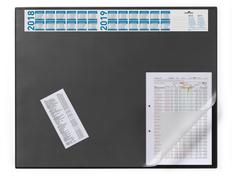 Настольное покрытие с календарем Desk Mat with calendar 65х52см, черное фото