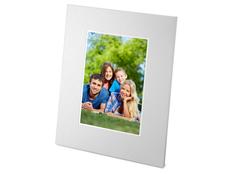 Рамка для фотографии 10х15 см, широкая окантовка, серебряный фото