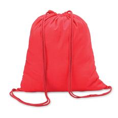 Рюкзак, хлопок, красный фото