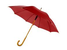 Зонт трость полуавтомат Радуга, темно-красный фото