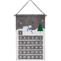 Адвент-календарь Noel с медведями, серый фото