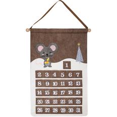 Адвент-календарь Noel с мышкой, коричневый фото