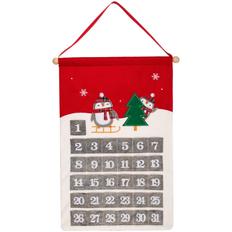 Адвент-календарь Noel с пингвинами, красный фото
