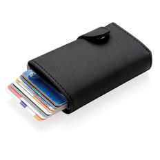 Алюминиевый картхолдер Standard с кошельком и защитой RFID, чёрный фото