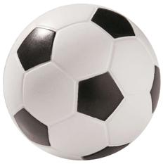 Антистресс Футбольный мяч 6см вспененный каучук, белый/черный фото