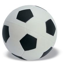 Антистресс Футбольный мяч 6см, белый/черный фото