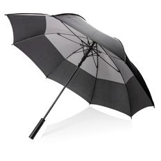 """Зонт трость антишторм двухцветный автомат XD Collection 27"""", черный / серый фото"""