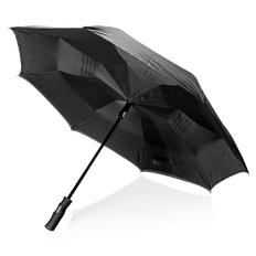 """Зонт складной наоборот полуавтомат Swiss Peak 23"""", черный фото"""