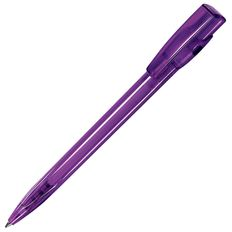 Ручка шариковая пластиковая Lecce Pen Kiki LX, прозрачная фиолетовая фото