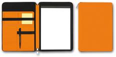Папка для документов А4 SKUBA на молнии, оранжевая фото