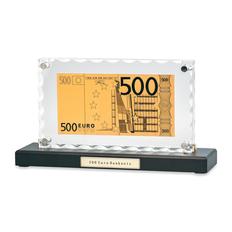 Банкнота 500 Euro в стекле, прозрачный фото