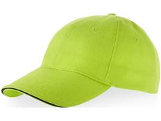 Бейсболка Slazenger Challenge 6 клиньев сэндвич, зеленое яблоко/ темно-синяя фото