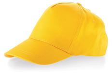 Бейсболка детская US Basic Memphis, 5 клиньев, ярко-желтая фото