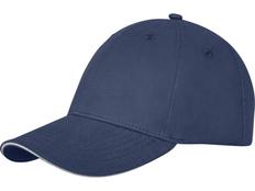 Бейсболка Elevate Darton, 6 клиньев, темно-синяя фото