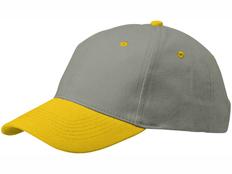 Бейсболка Slazenger Grip 6 клиньев, желтая фото