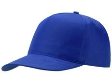 Бейсболка Us Basic Poly 5 клиньев, синяя фото