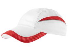 Бейсболка Slazenger Qualifier 6 клиньев, белая/ красная фото