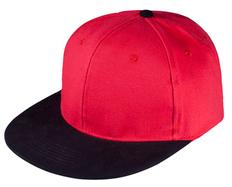 Бейсболка Unit Heat 6 клиньев, плоский козырек, красная/ черная фото