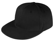 Бейсболка Unit Snapback 6 клиньев, плоский козырек, черная фото