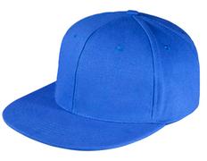 Бейсболка Unit Snapback 6 клиньев, плоский козырек, ярко-синяя фото