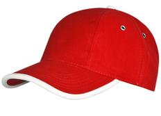Бейсболка Unit Trendy, белая/ красная фото