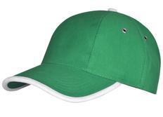 Бейсболка Unit Trendy, зеленая/ белая фото