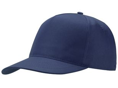 Бейсболка US Basic Poly, 5 клиньев, синяя фото