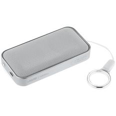 Колонка беспроводная BrandCharger Nano Lite, серебристая/ белая фото