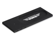 Зарядное устройство беспроводное настольное с подсветкой Evolt Glide soft touch, черное фото