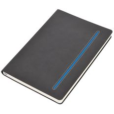 Бизнес-блокнот в клетку thINKme Elegance А5, 256 стр., серый/ синий фото