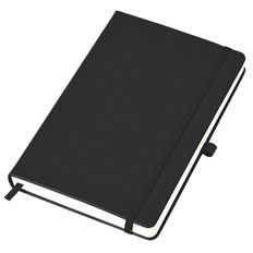 Бизнес-блокнот в линейку на резинке thINKme Justy А5, 256 стр., черный фото
