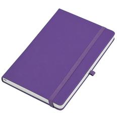 Бизнес-блокнот в линейку на резинке thINKme Justy А5, 256 стр., ярко-фиолетовый фото