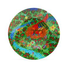 Блюдо Farforite «Калевала» в подарочной коробке, белое / зеленое / красное фото