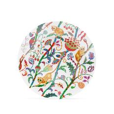 Блюдо Farforite «Лемуры» в подарочной коробке, белое / разноцветное фото