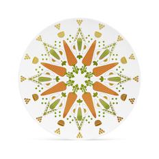 Блюдо Farforite «Оливье» в подарочной коробке, белое / оранжевое / зеленое фото